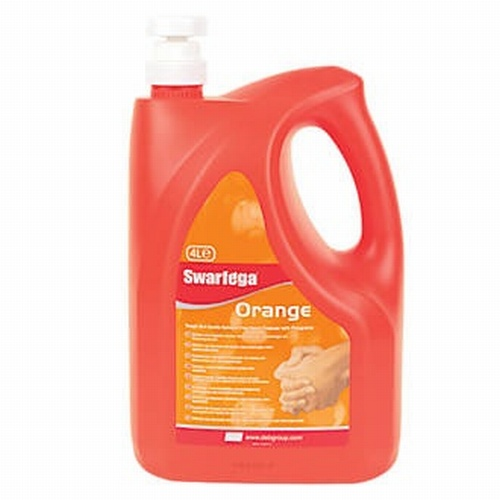 Swarfega Orange Pump Bottle Hand Cleaner 4Ltrs