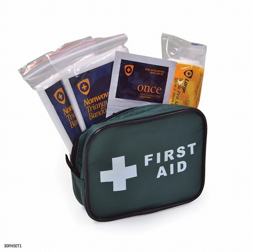 One Person First Aid Travel Kit Zip Bag