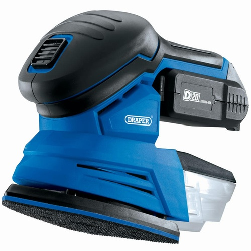Draper D20 20V Sander with 2Ah Battery and Charger