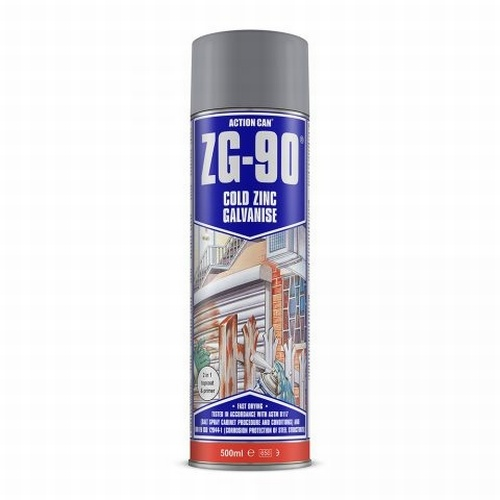 ZG-90 Cold Zinc Galvanising Paint Silver & Colours 500ml