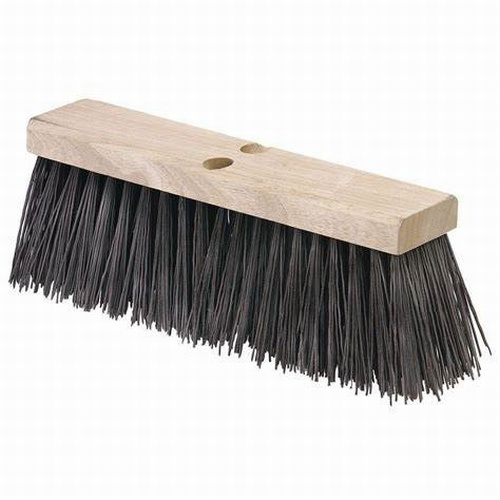 "13"" Stiff Black PVC Broom Head"