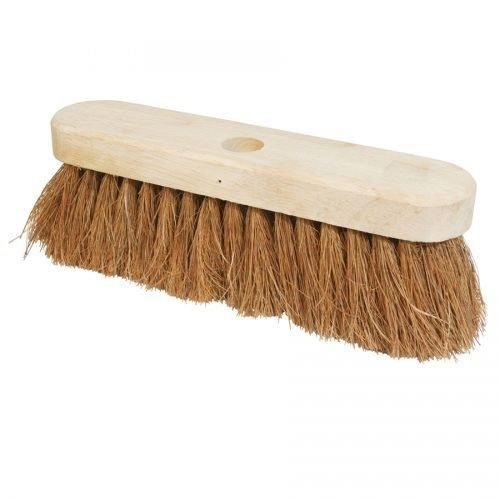 "10"" Soft Coco Fibre Broom Head"