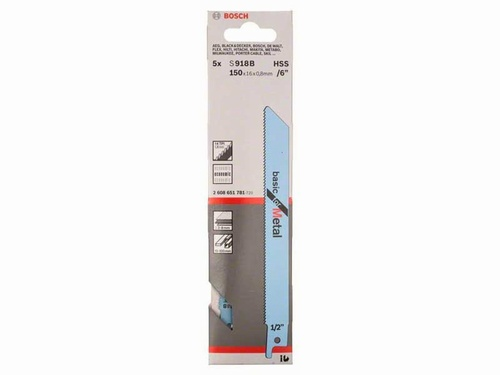 Sabre Saw Blades Pack 5 (Metal) S918B