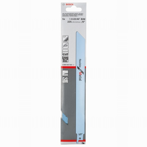 Sabre Saw Blades Pack 5 225mm (Metal) S1122AF