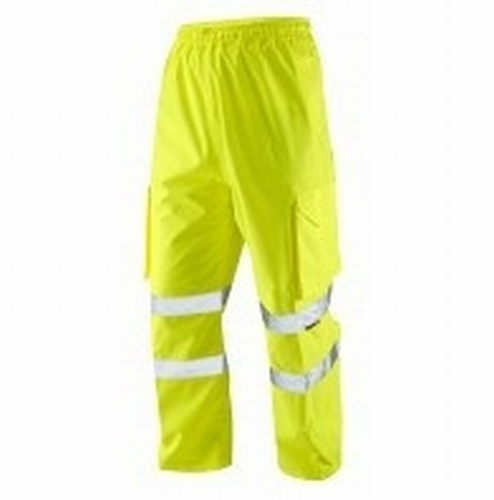 Hi-Visibility Yellow Waterproof Trousers - XL