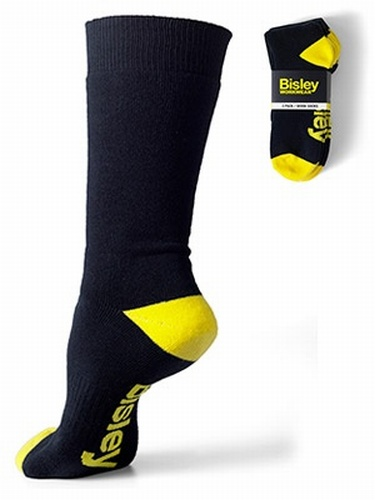 Bisley Navy Work Socks - Pack of 3