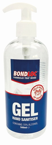 Bondloc 500ml Pump Hand Gel Sanitiser