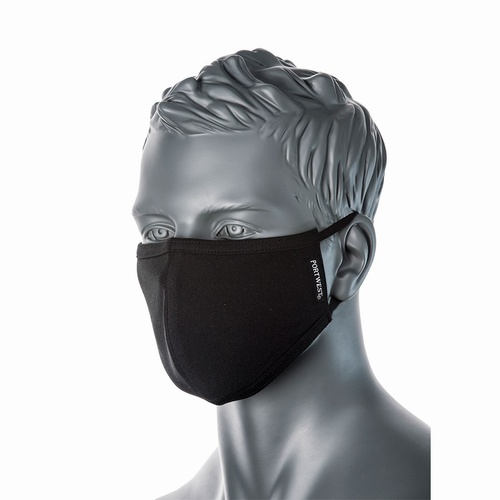 CV22 Black 2-PLY Anti-Microbial Masks