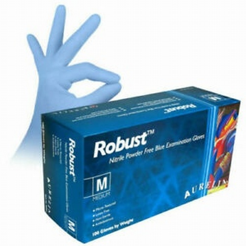 Robust Blue Nitrile PF Gloves (PK 100)